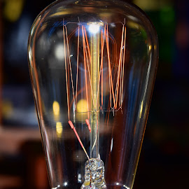 The glowing Filament by Marco Bertamé - Artistic Objects Other Objects ( red, electric, bulb, glass, glowing, filament, light )