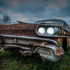 Undead Oldsmobile by Jim King - Transportation Automobiles ( maryland, wicomico  county, landscape, antique car )