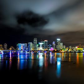 Miami by Marcin Frąckiewicz - City,  Street & Park  Night ( miami, night )