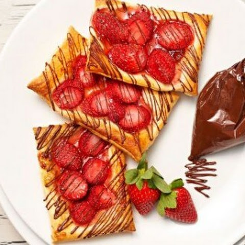 Sticky Strawberry Danish