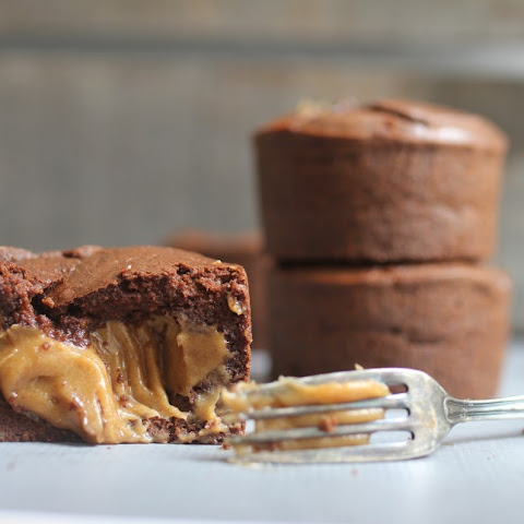 Caramel Explosion Brownie Cakes