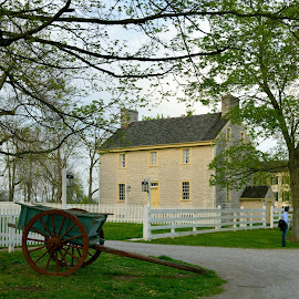 Shakertown by Larry Roberts - Buildings & Architecture Public & Historical ( dogwood, redbud, shakers, inns, springflowers )