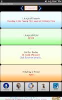 Screenshot of Liturgical Calendar