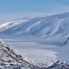 Glacier under Snow by Patricia Phillips - Landscapes Travel ( alaska portage, glaciers a )