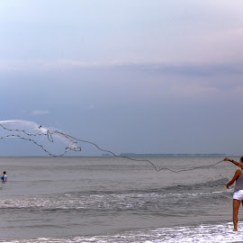 Fishing Net by Debora Garella - Sports & Fitness Other Sports ( hh )