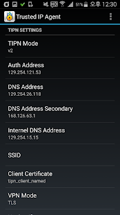 Trusted IP Network Agent - screenshot