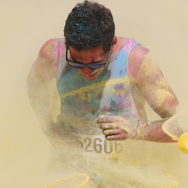 Color Run by João Ascenso - Sports & Fitness Running ( color, yellow, run, running, athlete )