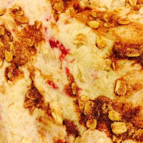 Banana Raspberry Oat Cake…Made from GF Sugar Cookie Mix