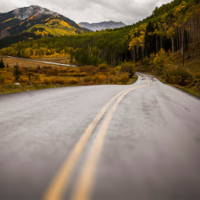 A Rainy Fall Day by Tom Cuccio - Landscapes Weather ( blurred, mountain, rainy, fall, landscape )