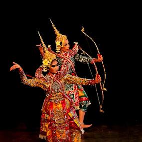 Rama and Lesmana Laos Version by Rudi Yanto - People Musicians & Entertainers ( laos, lesmana, festival, ramayana, ballet, dance, prambanan, rama )