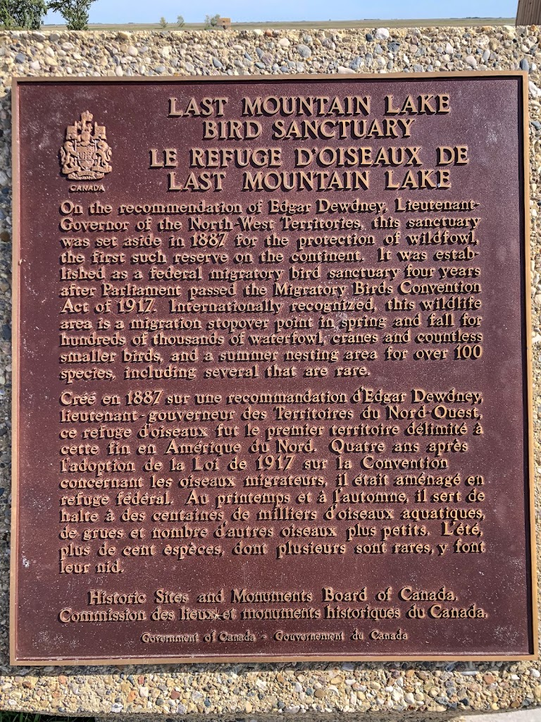 LAST MOUNTAIN LAKE BIRD SANCTUARYOn the recommendation of Edgar Dewdney, Lieutenant-Governor of the North-West Territories, this sanctuary was set aside in 1887 for the protection of wildfowl, the ...