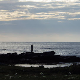 Fishing off the rocks by Martin Stepalavich - Sports & Fitness Other Sports