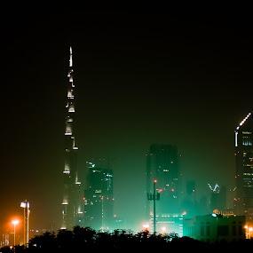Dubai High Rise by Chirag Mer - City,  Street & Park  Vistas
