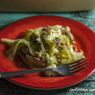 Creamed Cabbage Beef and Bacon Casserole