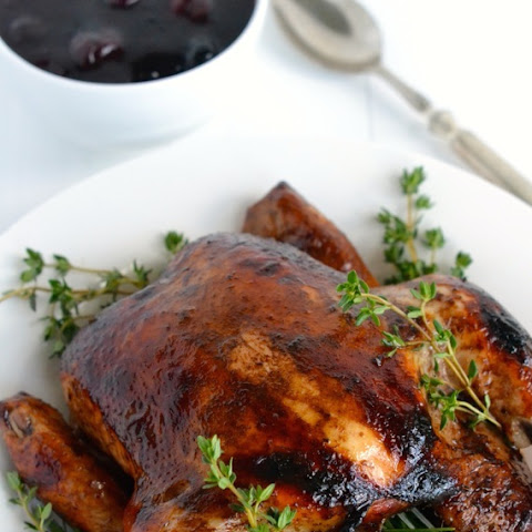 Balsamic Roasted Chicken with Easy Cherry Sauce