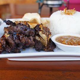 Nasi Iga Bakar by Mulawardi Sutanto - Food & Drink Plated Food ( rice, mantap, iga, food, travel, kuliner, bandung )