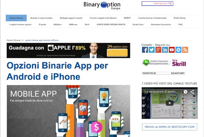 app segnali opzioni binarie