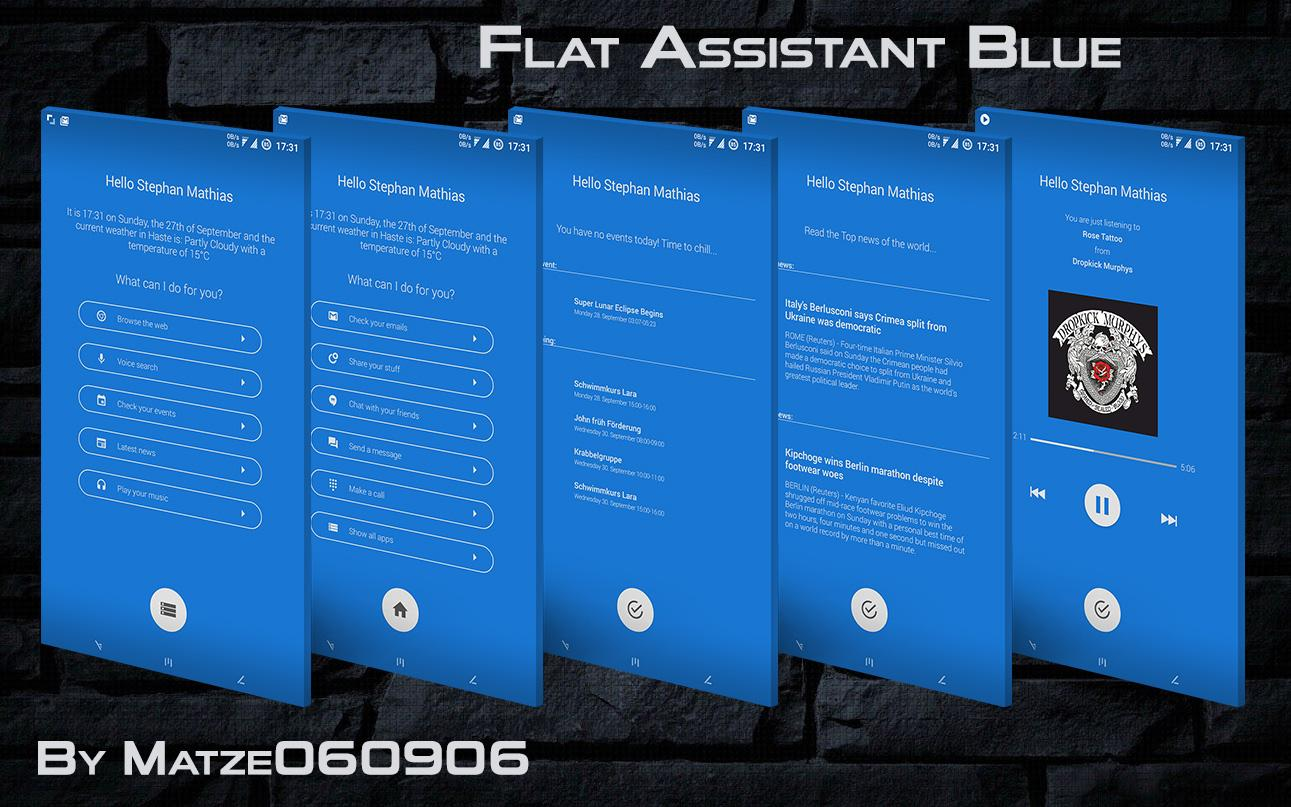 Flat Assistant for KLWP Screenshot 0