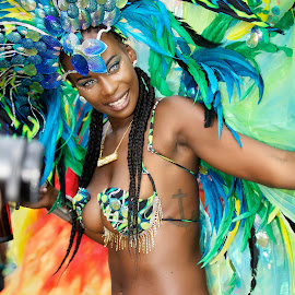 Carnival Queen by Monika Schaible - People Portraits of Women ( street party, bacchanalia masband, london, trinidad, masquerade, monika schaible, nottinghill carnival )