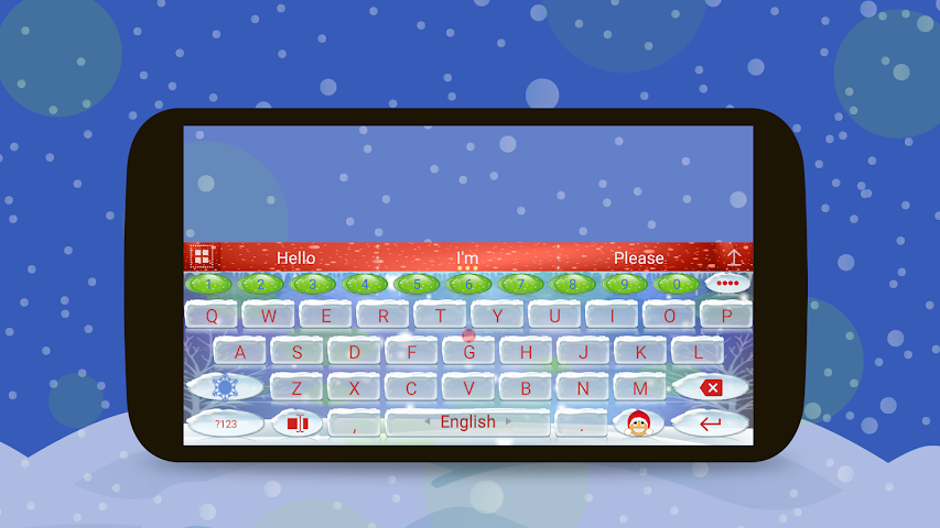 android Animated Christmas Keyboard Screenshot 4