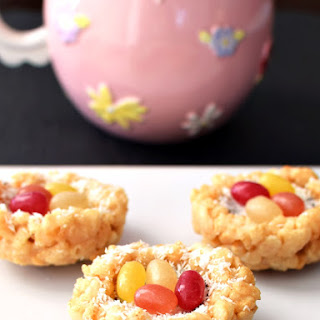 Coconut Crispy Treat Nests (5-Minute, No Cook, Marshmallow-Free)