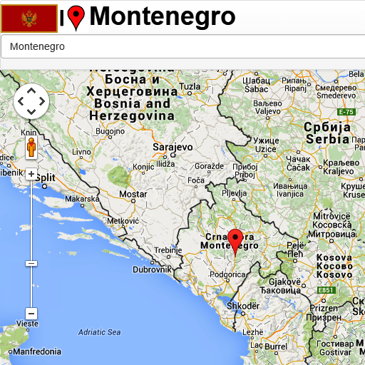 Android aplikacija Montenegro map na Android Srbija