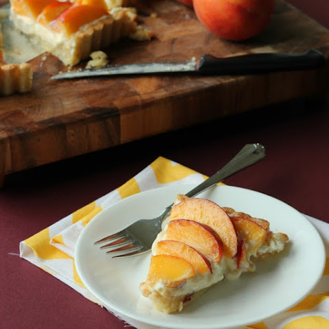 Peach Amaretto Cheesecake Tart