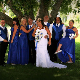No Blue Mood Here by Lena Arkell - Wedding Groups ( blue, wedding, wedding party )