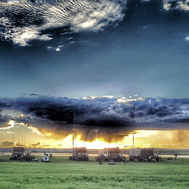 Air field by Shane Lusk - Instagram & Mobile Android ( air field, canada, shadow, us army, dusk )