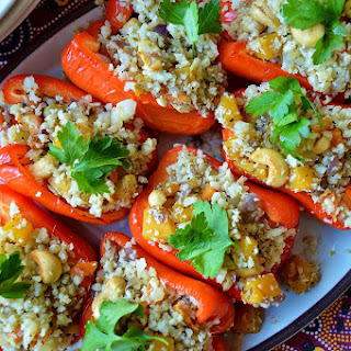 Stuffed Peppers with Cauliflower Rice - Suma Bloggers Network GF SCD