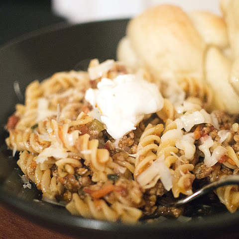 Fusilli with Pork-Sausage Ragù