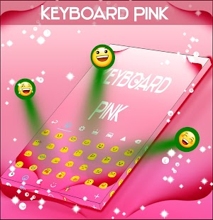 Pink Keyboard and Background - screenshot