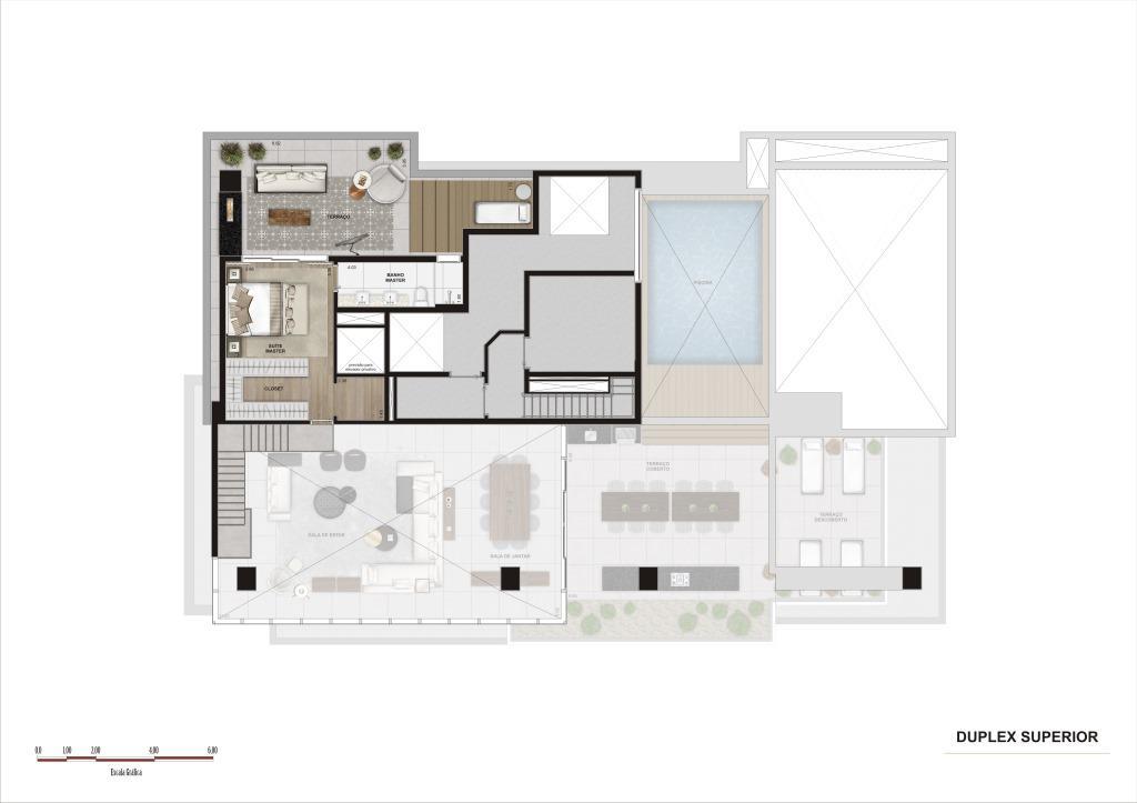 Planta  Duplex Superior - 369 m²