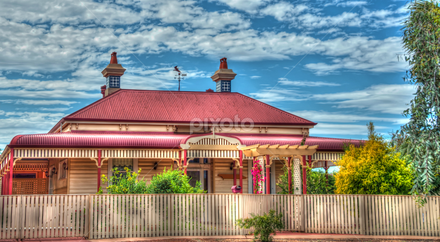 Homestead by Loredana  Smith - Buildings & Architecture Other Exteriors ( doors, home, 1900, land, patio, windows, house, veranda, fence, australia, porch, garden, design )