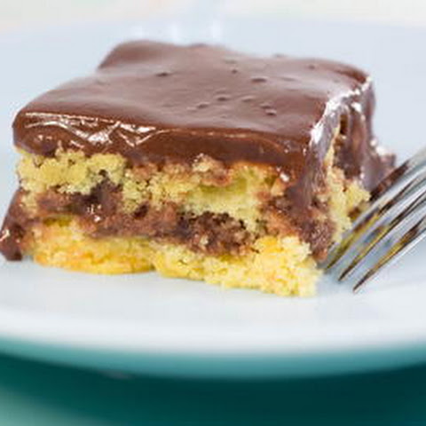 Old Fashioned Pudding Poke Cake