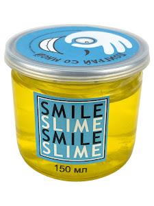 Слайм-лизун Желтое стекло, 150 мл.