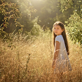 Meadow Fairy Tale by Jiri Cetkovsky - Babies & Children Child Portraits ( tale, girl, portrait, meadow, fairy )