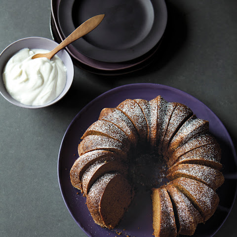 Spiced Persimmon Bundt Cake with Yogurt Cream