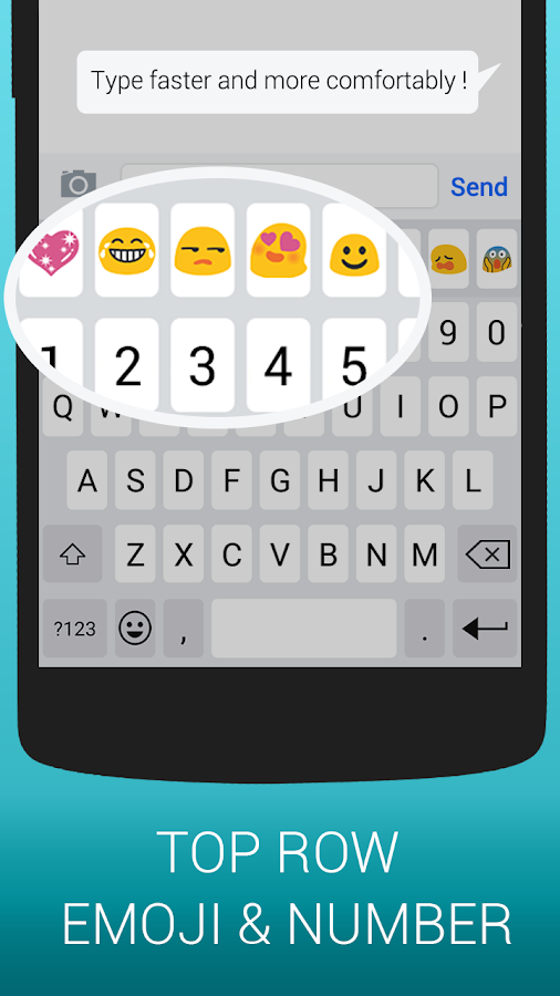 Emoji Keyboard Cute Emoticons Screenshot 4