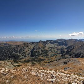 Rila mountain by Sergey Sokolov - Landscapes Mountains & Hills ( countryside, mountain, outlook, peak, rocky, steep, landscape, panorama, alpine, heap, huge, highland, aspect, height, scenary, scene, perspective, alp, pile, view )