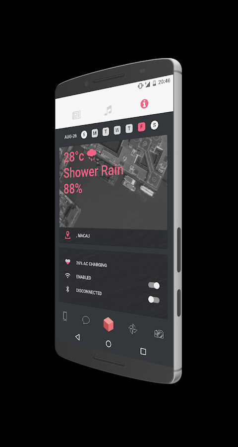 AUGUST for Kustom KLWP Screenshot 7
