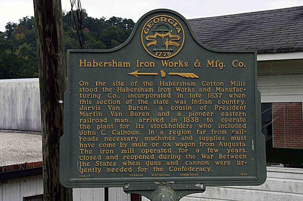 Read the Plaque - Habersham Iron Works & Mfg. Co.