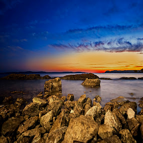 Quietness  by Ivana Miletic - Backgrounds Nature ( sunset, croatia, silence, ivana miletic, sea, stillness )