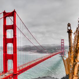 Gonden Gate by Jimmy Alba - Landscapes Travel ( canon, golden gate bridge, bay bridge, san francisco )