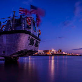What a Lark! by Ian Yates ヅ - Transportation Boats ( shore, brighton, new, lark, sunset, amphibian )