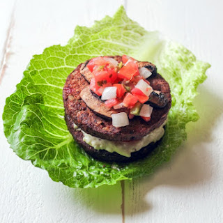 No Bun, Roasted Garlic and Quinoa Burger