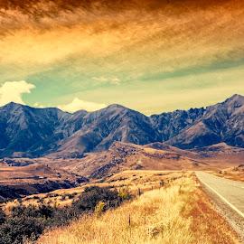 Southern Alps by Stanley P. - Transportation Roads ( transportation, landscape, roads )
