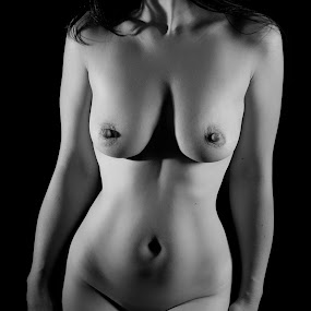 Lines by Diana Garbacauskiene - Nudes & Boudoir Artistic Nude ( studio, nude, black and white, woman, intimate, shadows )