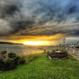 Sunset Findhorn Scotland  by Neil Verner - Novices Only Landscapes