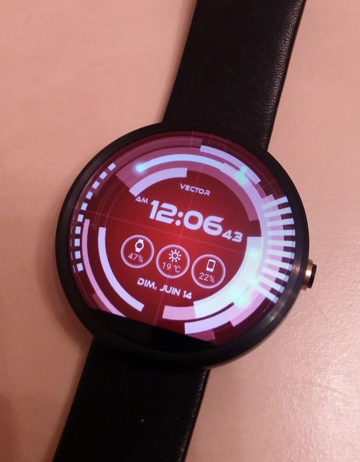 Vector GUI Watch Face Screenshot 7